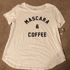 Mascara & coffee T-shirt